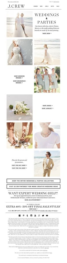 J.Crew - New weddings & parties, by way of Tulum