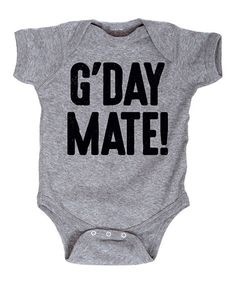 Athletic Heather 'G'Day Mate' Bodysuit - Infant #zulily #zulilyfinds