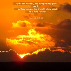 Psalm 73 : 26 Sunset at Boscombe, near Bournemouth, Dorset, UK.