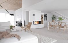 Living room, fireplace, Nordpeis, Panama, Before & After Home Fireplace, House Design, Living Space Decor, Home And Living, Living Room Designs, Home Living Room, Interior, Minimalist Interior Design, House Interior