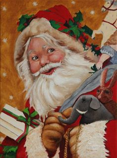 Jolly Santa send you all the best wishes for this holiday season! Print available here http://www.etsy.com/listing/29624948/art-print-jolly-santa?ref=v1_other_2 #pcfteam