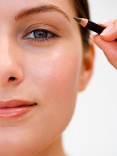 Re-think your brow shape. Angled brows provide a better contour for your face #Beauty