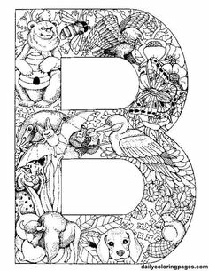 animal alphabet letter b coloring pages printable and coloring book to print for free. Find more coloring pages online for kids and adults of animal alphabet letter b coloring pages to print. Animal Alphabet, Alphabet Letters To Print, Printable Alphabet, Animal Letters, Bubble Alphabet, Doodle Alphabet, Alphabet Images, Bubble Letters, Alphabet Crafts