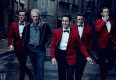 Clint Eastwood and the cast of Jersey Boys photographed by Annie Leibovitz for @VanityFair.