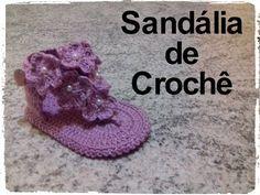 Sandália de crochê - YouTube