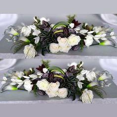 Kompozycja nagrobna i bukiet tonacja szaro-biała nr.100 Montreal Botanical Garden, Botanical Gardens, Funeral, Floral Wreath, Decor, Garden, Flowers, Dekoration, Flower Crowns
