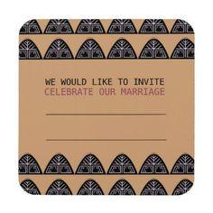 #WEDDING INVITATION / Mariage brown Coaster - #WeddingCoasters #Wedding #Coasters Wedding Coasters
