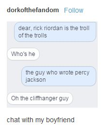 Oh the cliffhanger guy