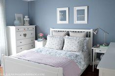 Ikea Hemnes Bed for Guest Bedroom Love the Grey and Floral Hemnes Ikea Bedroom, Ikea Bedroom Sets, Ikea Bedroom Design, Bedroom Furniture For Sale, Home Bedroom, Bedroom Decor, Dream Bedroom, Bedroom Photos, Bedroom Inspo