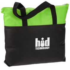 This light logo'd bag provides spacious storage for belongings!