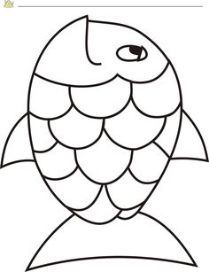 rainbow fish template - Rainbow Fish Coloring Page