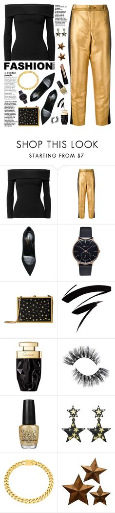 """""""stars fashion"""" by licethfashion ❤ liked on Polyvore featuring Michael Kors, Lanvin, Yves Saint Laurent, Alice + Olivia, OPI and Eklexic"""