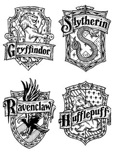 Harry Potter Ravenclaw Crest Coloring Page | Harry Potter | Pinterest | Harry  Potter, Ravenclaw And Decoration