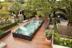piscina em desnível