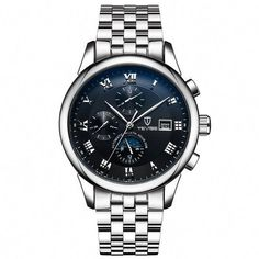 d4aa79629d6 Tevise 9008 Business Men Automatic Mechanical Watch Luminous Pointers with  Stainless Steel Strap-Black