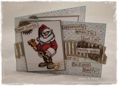 Steampunk julekort, christmas card,christmas, Make it crafty, steampunk santa, digi, scrapbooking, scrapbook, papir, paper,