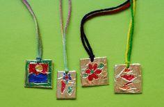Craft Club idea - necklaces with foil craft-club