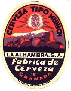 El arte de la cerveza: Etiquetas de Cervezas Alhambra (Granada, 1925)