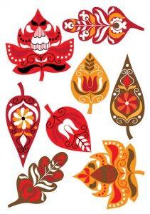 falevelek Easy Crafts For Kids, Art For Kids, Diy And Crafts, Arts And Crafts, Paper Crafts, Fall Art Projects, Projects For Kids, Folk Art Flowers, Flower Art