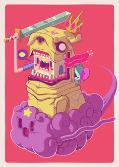 Finn and Jake Art Print by Mike Wrobel   Society6
