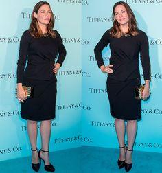Jennifer Garner in Lanvin top and skirt
