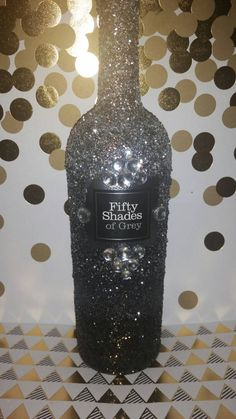 Reserved for Elon Townsend 50 shades of grey inspired glittered ombre bottle…