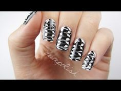 Melted Monochrome Nail Art Melting together black and white for this awesome looking DIY nail art design. This technique is really cool and easy to do! If you liked it then please give this video a thumbs up :) New Nail Art, Nail Art Diy, Easy Nail Art, Cool Nail Art, Black Nail Designs, Best Nail Art Designs, Nail Polish Designs, Colored Acrylic Nails, Nail Art For Beginners