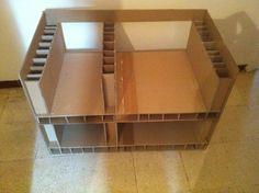 Tutorial de cartón mesa de TV (creaciones de cartón - cartón) - Femme2decoTV