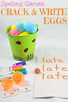 Spelling Games: Crack and Write Easter Eggs Easter Spelling Activities: A fun and festive, Easter-inspired idea for spelling revision. Spelling Word Activities, Spelling Word Practice, Spelling Games, Spelling Words, Phonics Activities, Easter Activities, Reading Activities, Literacy Activities, Teaching Resources
