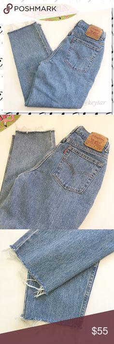 Selling this 90's Vintage Levi's High Waisted 512s Crop Jean on Poshmark! My username is: keytar. #shopmycloset #poshmark #fashion #shopping #style #forsale #Levi's #Denim