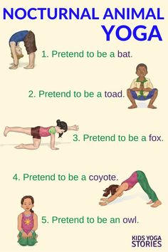 Learn about Nocturnal Animals through Yoga Poses for Kids | Kids Yoga Stories