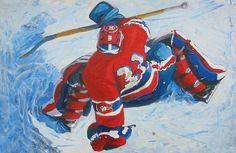 Patrick Roy painting by Cornelius Speck Nhl, Cornelius, Montreal Canadiens, Tigger, Hockey, Disney Characters, Fictional Characters, Superhero, Artwork