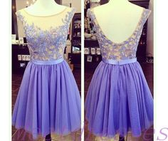 Lavender Homecoming Dress Simple Princess With Cap Sleeves Lace Bodice Tulle Prom Gown Sweet 16 Dresses For Teens