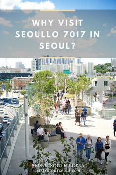 The Seoullo 7017 pathway reopened on May 20th 2017, as a connection between the eastern and western sides around Seoul Station. The structure first opened as a highway for cars in the 1970's, but was closed due to safety issues. Instead of tearing down the structure, it was renovated into this beautiful pathway for citizens.