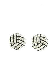 volleyball studs--matching necklace available