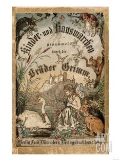 Cover of Brothers' Grimm Tales from a German Edition Published in Berlin, 1865…