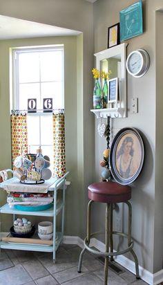 Trashtastic Treasures- vintage bar stool, vintage portrait, and vintage office chair