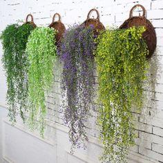 BU_ New Artificial Flower Ivy Vine Foliage Wall Hanging Garland Plant Garden Dec