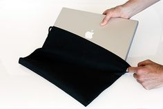 The Suede Jacket Sleeve prevents scratches and dings on your precious MacBook. Custom-sizing + Ultrasuede® stretch memory ensure a snug fit, and neoprene along the bottom adds additional protection. Macbook Sleeve, Macbook Case, Macbook Pro, New Gadgets, Cool Gadgets, Cord Cover, Wall Mounted Tv, Consumerism, Suede Jacket