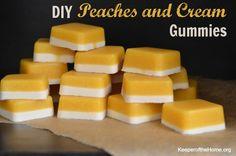 DIY Peaches and Cream Gummies