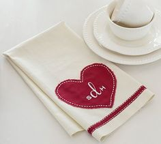 Give a valentine that's personal - a kitchen tea towel might be just the thing.