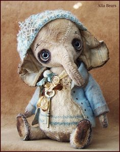 Alla Bären original Künstler Designer niedlicher Elefanten