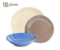 Vajilla de cerámica Trendy III - 18 piezas