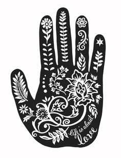 """""""Henna Hand"""" Flowy Long Sleeve Tee by Sevenly - This item donates $7 to Invisible Girl Project to help protect the lives of little girls in India who are at risk of becoming a victim of gendercide, the systematic killing of girls in India, just because they're female."""