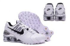 Creative Nike Shox Avenue Shox NZ White Black Silver Men s Sport Athletic  Running Shoes Sneakers Mens a23398c32