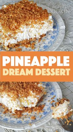 My grandma's Pineapple Dream!- My grandma's Pineapple Dream! Oh my gosh, this is the BEST! My grandma always made this and now my mom does. Guess I& have to start making it too because it just rocks! It& called Pineapple Dream Dessert. 13 Desserts, Potluck Desserts, Brownie Desserts, Delicious Desserts, Yummy Food, Easy Summer Desserts, Food Cakes, Dessert Bars, Dessert Food