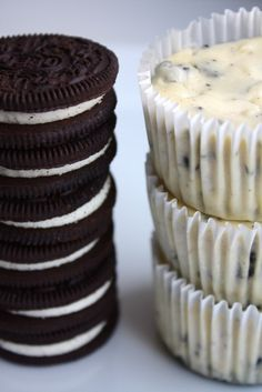 oreos++cream+cheesecake+cupcakes... - Click image to find more Food & Drink Pinterest pins