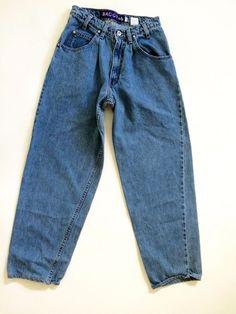 Vintage Levis SilverTab Baggy Mens Jeans Sz W28 L29 Stonewashed Heavy Denim USA #Levis #BaggyLoose