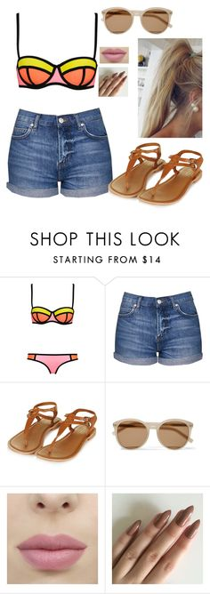 """""""Untitled #53"""" by no-play-qveen on Polyvore featuring WithChic, Topshop and Yves Saint Laurent"""
