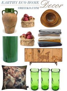 Earthy Eco Home Decor Ideas - Oreeko Eco Green Fair Trade Business Directory Living Tv, Wreaths And Garlands, Eco Green, Cozy House, Earthy, Home And Garden, Rustic, Homes, Home Decor